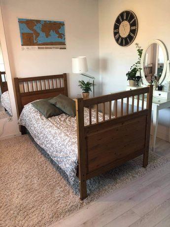 Łóżko drewniane jednoosobowe 207x100. Bdb! Ładne!