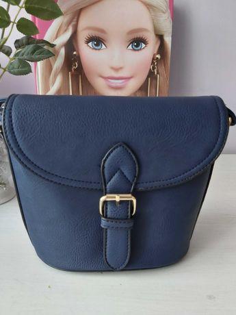 Nowa niebieska elegancka torebka