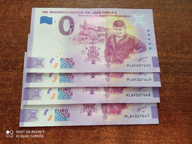 Banknot 0 euro Wadowice, 100 rocznica urodzin JPII