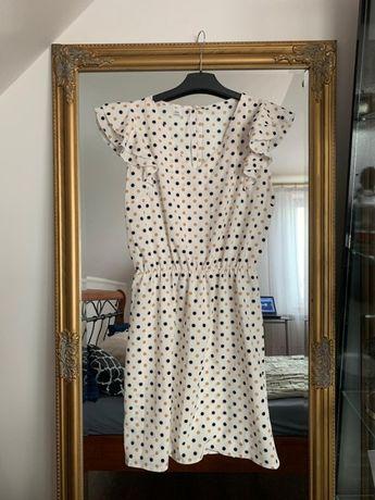 Nowa elegancka sukienka w groszki L, XL