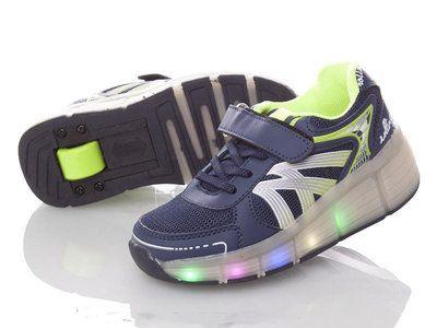 Хилисы! Светящиеся кроссовки ролики на колесиках! Роликовые кеды
