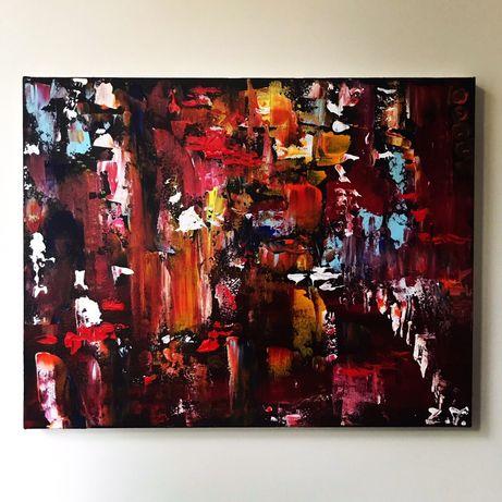 """Картина """"Час пик. Абстракция"""", огни, город, интерьер, холст, декор"""