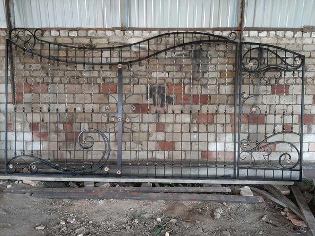 Ворота и калитка. Ворота і фіртка. 3400х2000, 900х2000.
