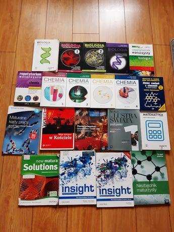 Książki do liceum/technikum - biologia, matematyka, chemia