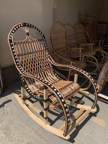 Кресло качалка из лозы/ Крісло качалка з лози / Мебли из лозы