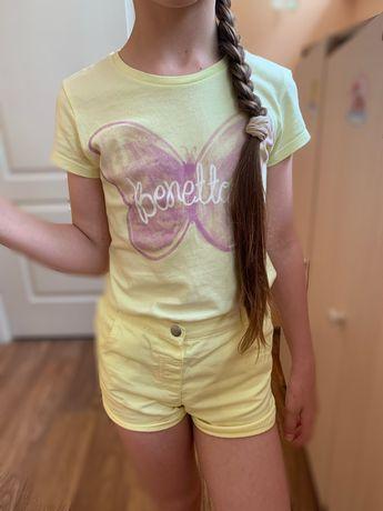 Шорты детские 8-9 лет 128-134 см футболка+ шорты набор на девочку