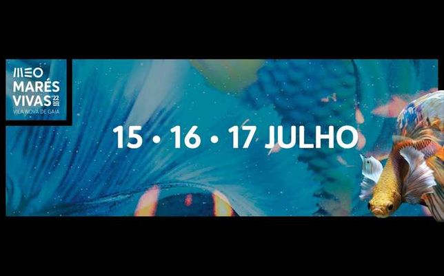 Bilhete festival MEO MARÉS VIVAS 2022- Passe 3 dias