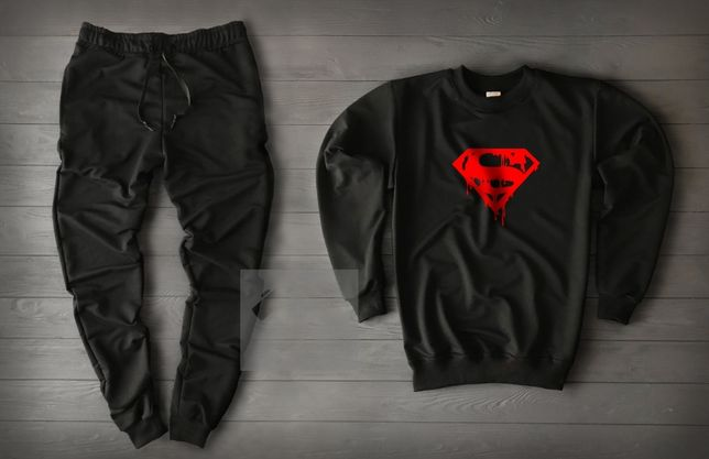 ТОП!Мужской спортивный костюм MARVEL Deadpool Superman штаны и свитшот