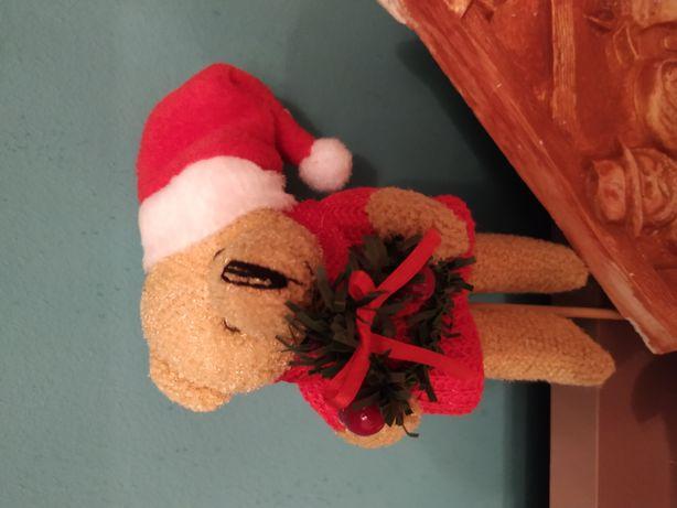 Miś Mikołaj na patyku- Boże narodzenie