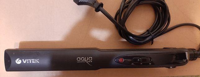 Выпрямитель для волос vitek aqua ceramic, утюжок для волос