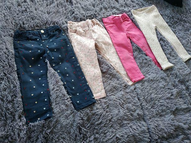 Spodnie zara,next,cubus,matalan 2/3 latka