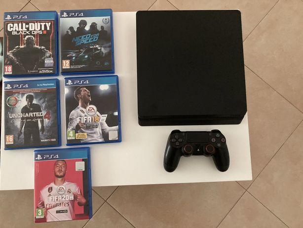 Playstation 4 + 5 Jogos + HDMI