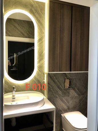 Зеркало с подсветкой овальное. Зеркало для ванной.