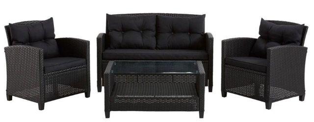 Meble ogrodowe technorattan sofa, stół, fotele