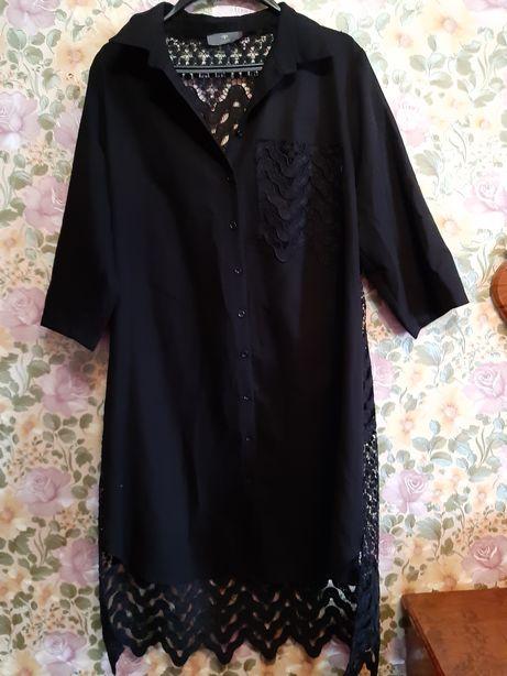 Платье рубашка кружево вышитое ХЛ-ХХЛ Турция LUMO