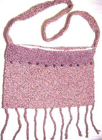 brązowa torebka z włóczki,boho torebka w stylu hippie,torba na ramię