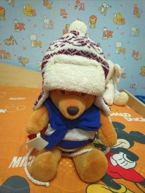 Зимняя шапка для мальчика на 1-2 года