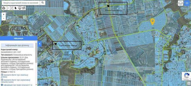 Продам земельну ділянку під будівництво в Городище. Приватна власність