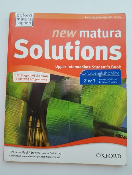 New matura Solutions upper intermediate student s book