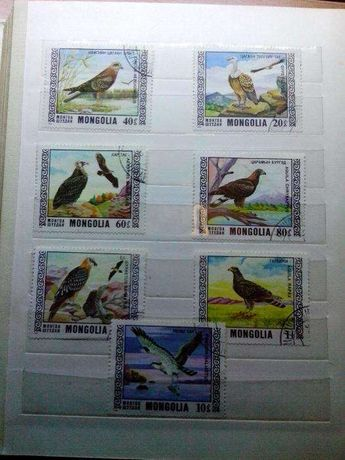 Продам редкие марки Монголия, 1976 г. хищные птицы
