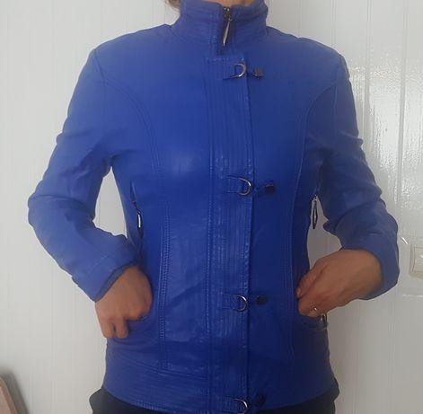 Niebieska Kobaltowa Ramoneska Kurtka r. M 38