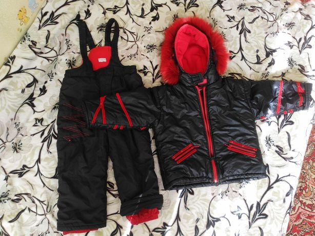Демисизонный и на теплую зиму комбинезон и курточка  на рост 104+6