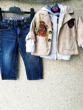 Комплект:джинсы,худи толстовка и пиджак на модника 1,5-2г