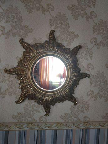 Зеркало солнце, ручная работа