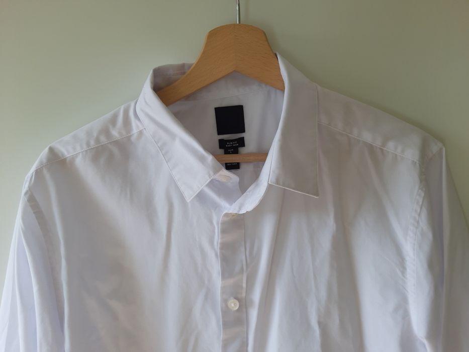 Biała koszula z długim rękawem H&M Leszno - image 1