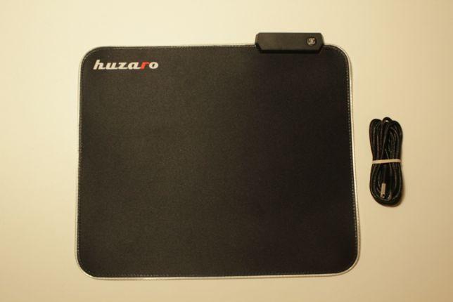 Podkładka Gamingowa HUZARO pod myszkę - Podświetlenie LED RGB - Nowa