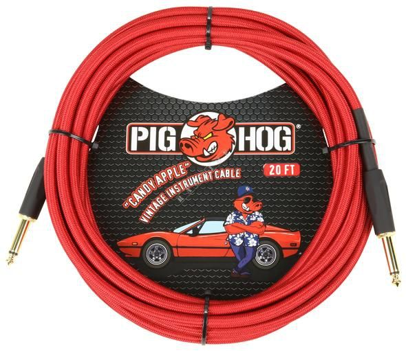 Pig Hog PCH20CA Candy Apple - kabel instrumentalny Katowice - image 1