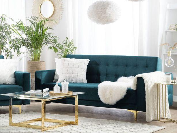Sofá de 3 lugares reclinável em veludo verde pretóleo ABERDEEN - Beliani