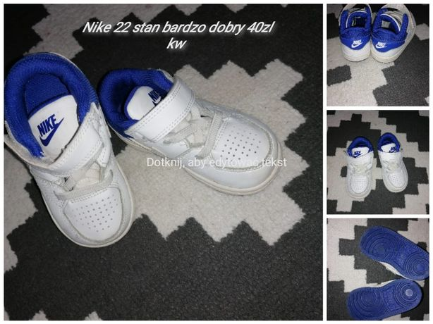 Buty Nike rozmiar 22 dla chlopca.