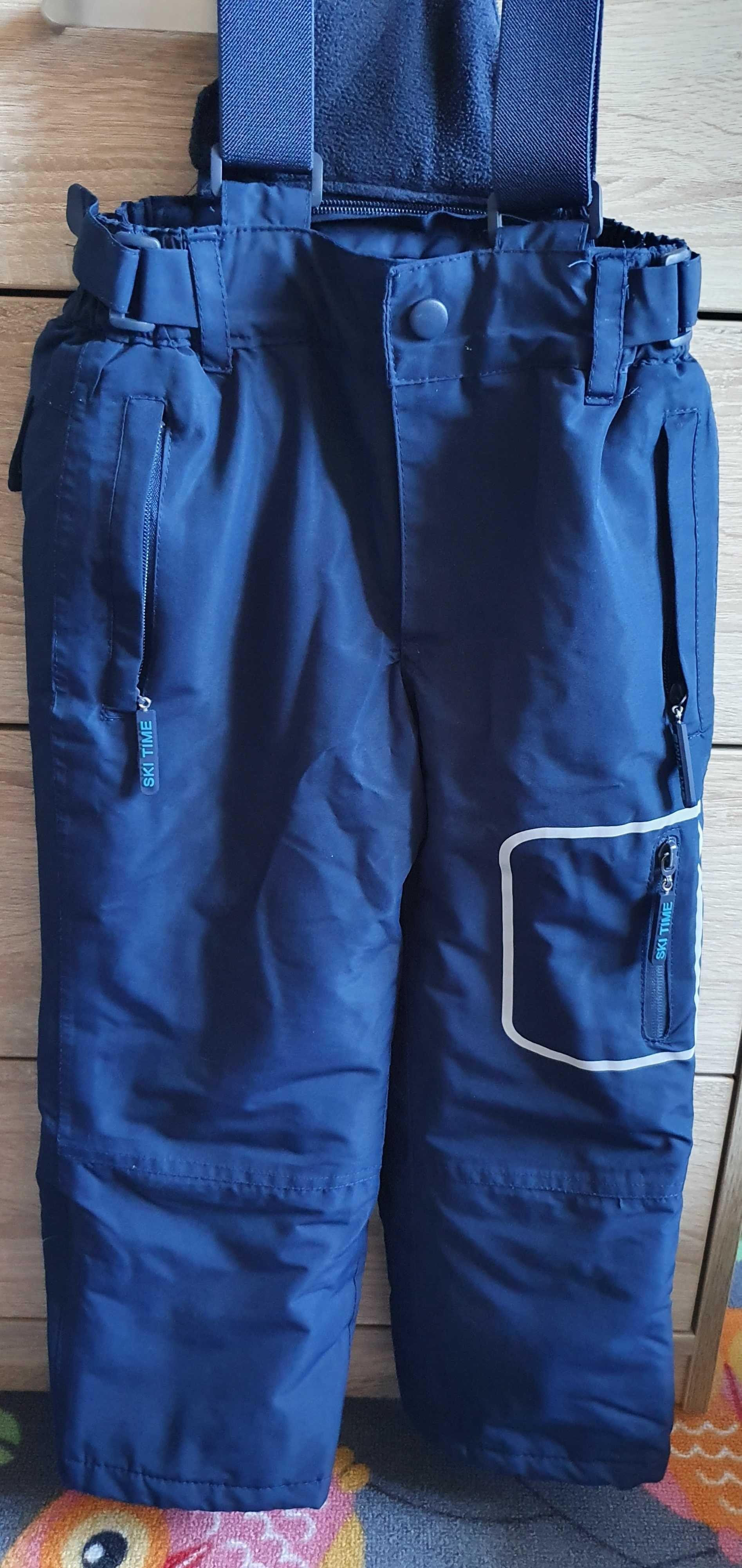 Spodnie narciarskie r. 110, granat cool club