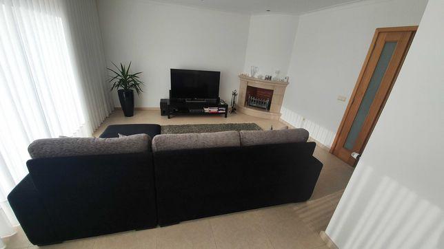 Sofá + tapete + móvel tv