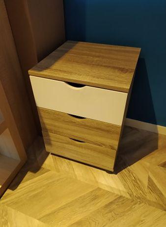 Jysk komoda Abbetved z szufladami na kółkach pod biurko, jasny dąb