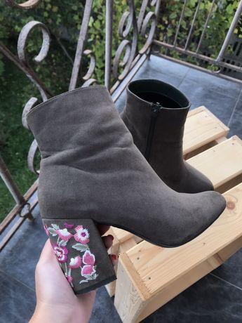 Черевики на каблуку, new look \ ботинки на каблуке, 37