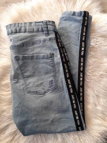 Spodnie jeansowe z lampasem