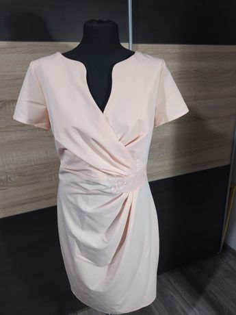 Sukienka Karters Moda rozm 40 brzoskwiniowa
