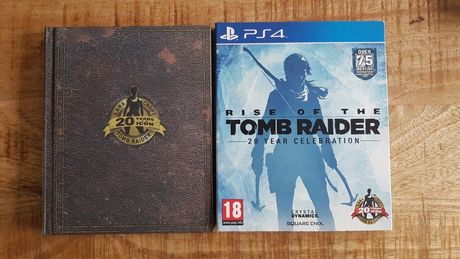 Rise of the Tomb Raider steelbook, artbook