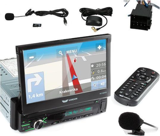Nowe Radio Samochodowe Nawigacja VORDON GPS Mapy Europy PL BT USB SD S