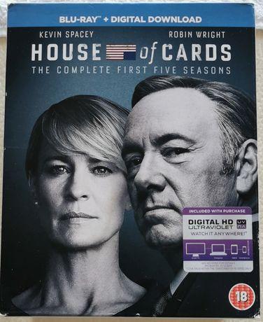 Blu-ray & Dvd: House of Cards (5 Temporadas).