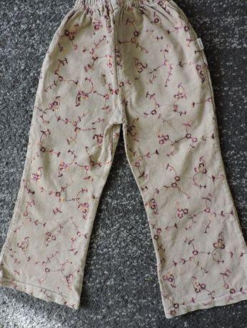 Spodnie, sztruksy dziewczęce roz. 110/116, 3 pary