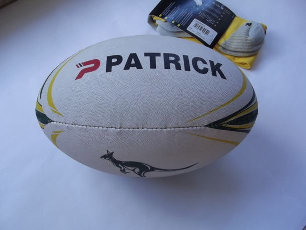 Piłka do rugby Patrick + getry adidas