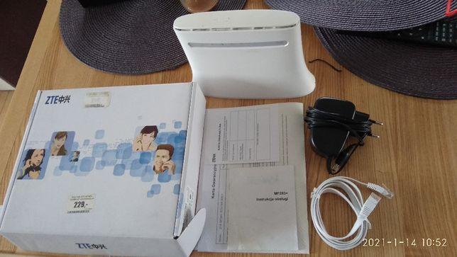 Router LTE ZTE MF283+ używany, sprawny w 100% za 150zł ,komplet z zas.