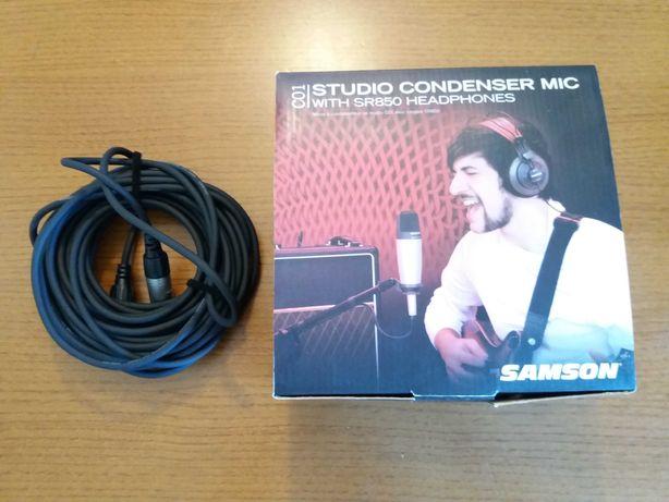 Microfone SAMSON C01 + Cabo + Suporte