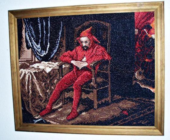 obraz ręcznie haftowany