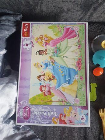 Puzzle dla dziewczynki duże księżniczki