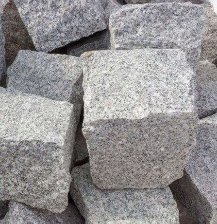 Kostka granitowa 9/11cm szara STRZEGOMSKA na obrzeże, gruba TRANSPORT