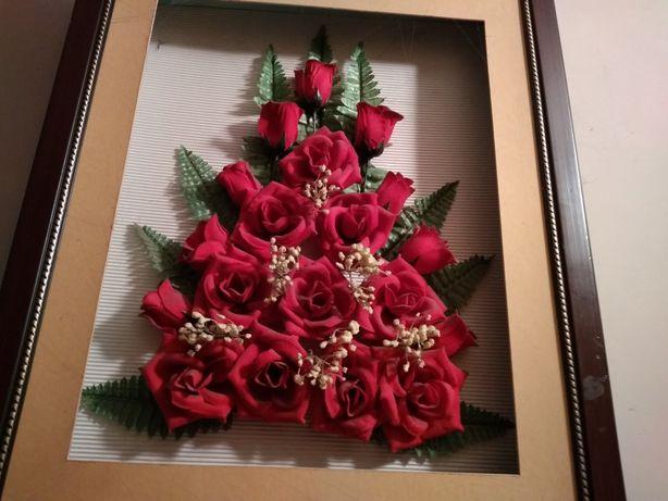 Obraz kwiaty róże 3D Kompozycja bukiet